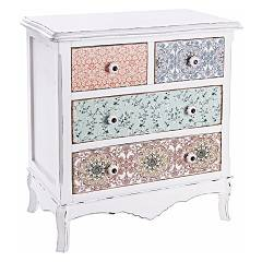Bizzotto 0744537 4 drawers wooden cabinet Leila