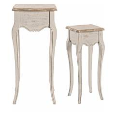 Bizzotto 0745805 Set 2 wooden tables Clarisse
