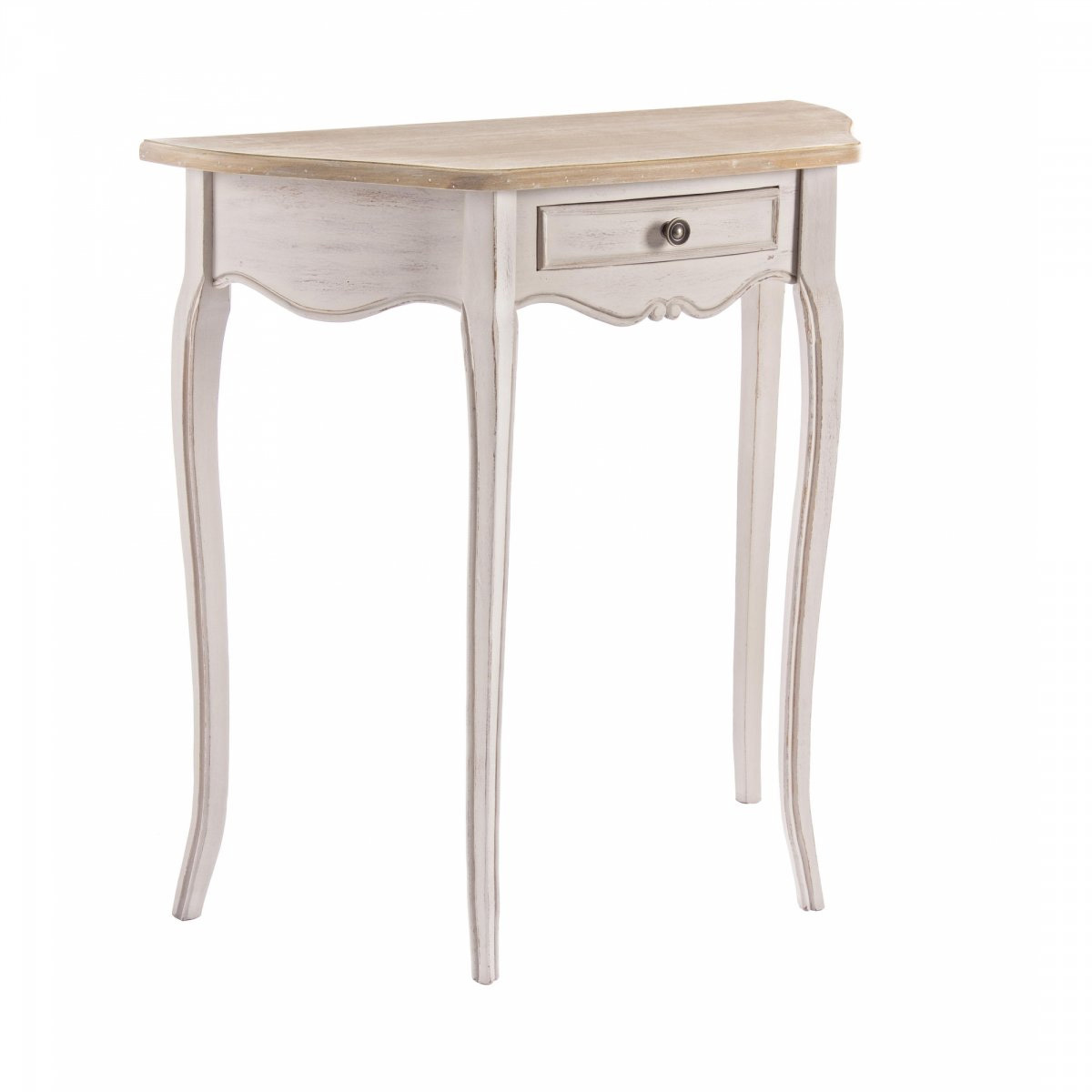 Photos 1: Bizzotto Fixed console in wood l. 80 x 35 with 1 drawer 0745807
