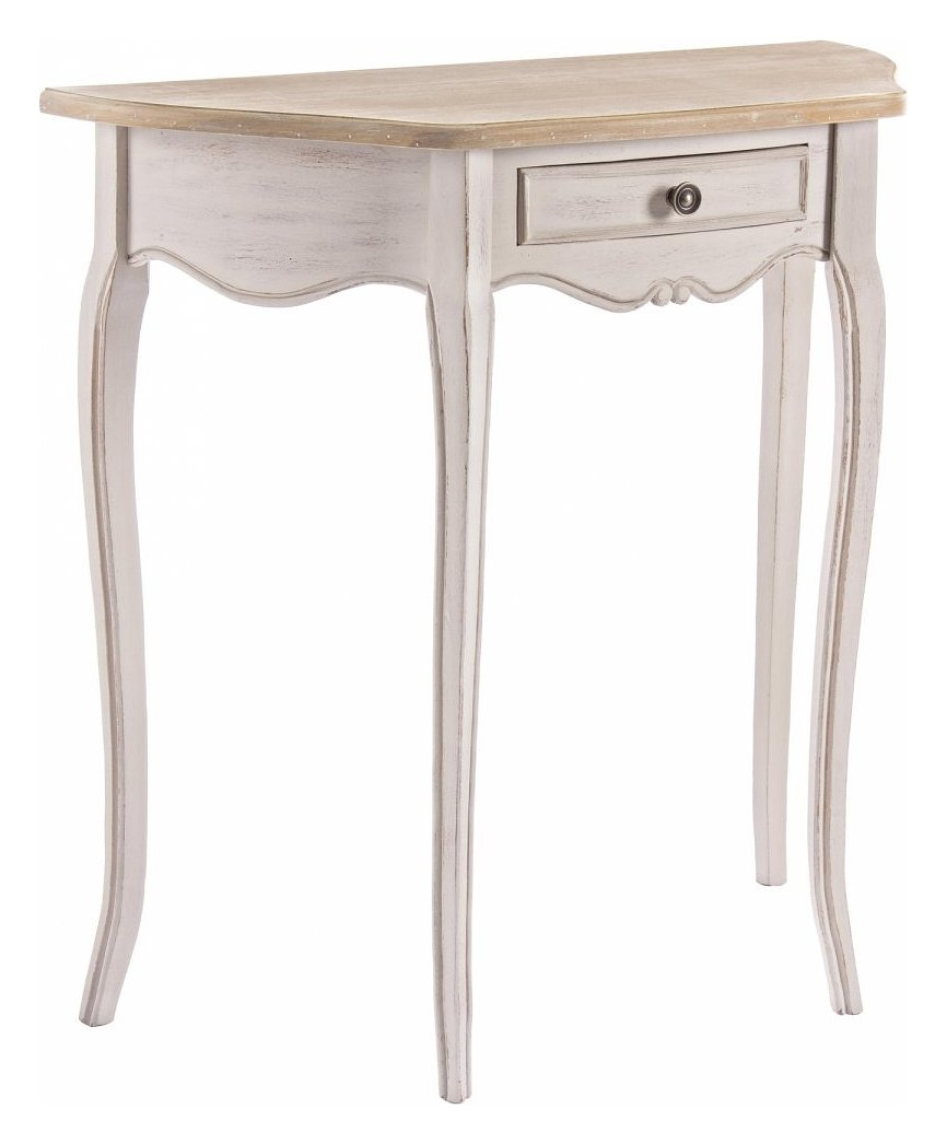 Photos 1: Bizzotto 0745807 Clarisse Fixed console in wood l. 80 x 35 with 1 drawer