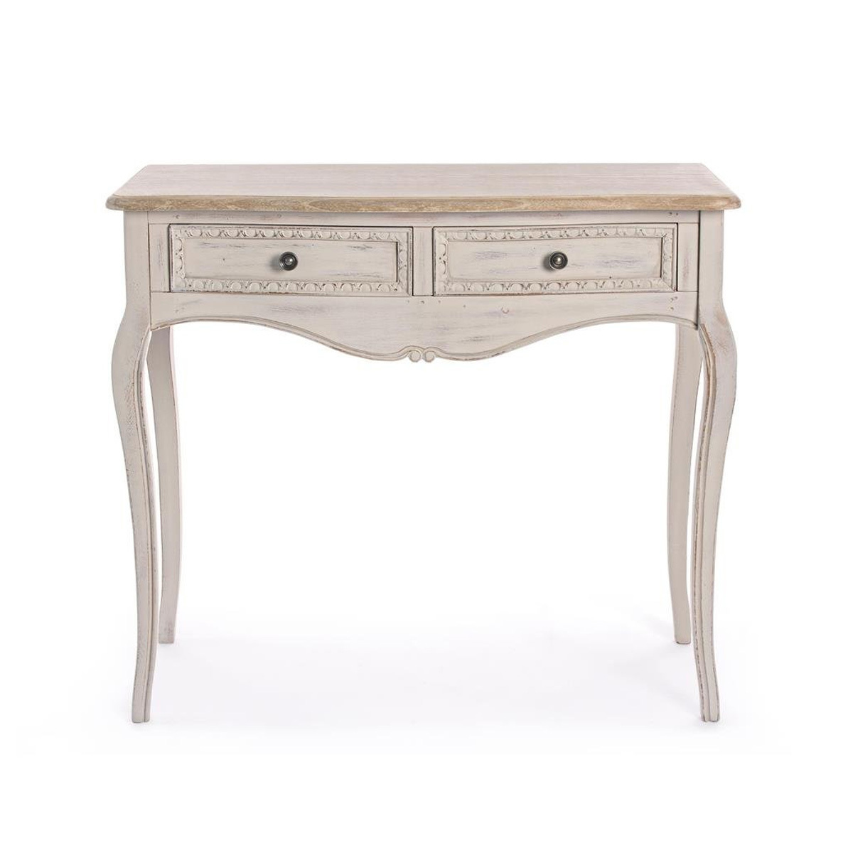 Photos 2: Bizzotto Fixed wood console l. 90 x 40 with 2 drawers 0745808