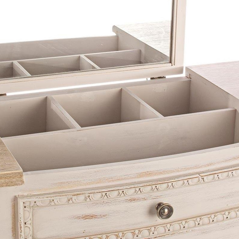 Photos 6: Bizzotto Fixed wood console l. 90 x 40 with container and 1 drawer 0745809