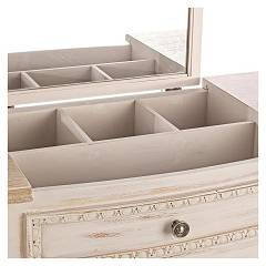 Photos 6: Bizzotto 0745809 Clarisse Fixed wood console l. 90 x 40 with container and 1 drawer