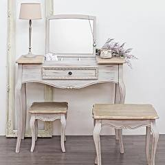 Photos 7: Bizzotto 0745809 Clarisse Fixed wood console l. 90 x 40 with container and 1 drawer