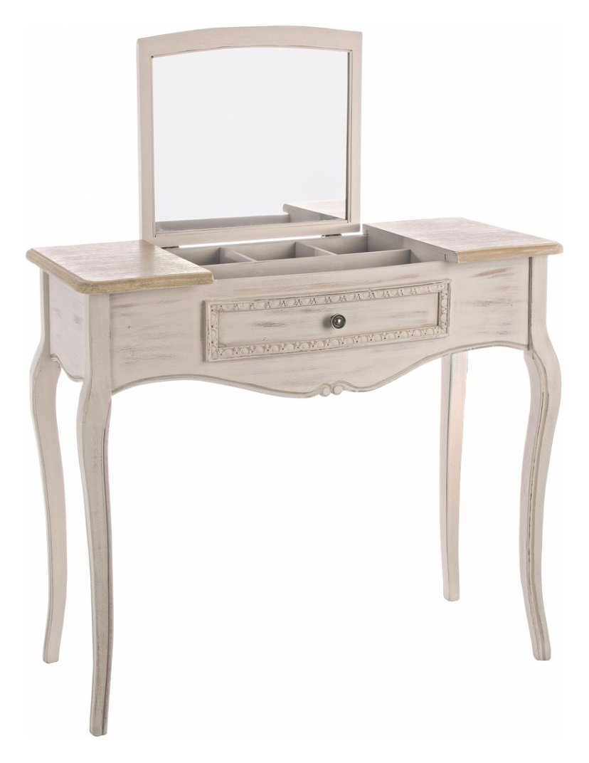 Photos 1: Bizzotto 0745809 Clarisse Fixed wood console l. 90 x 40 with container and 1 drawer