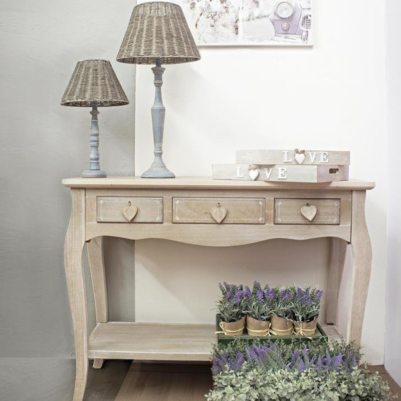 Photos 2: Bizzotto Fixed console in wood l. 106.5 x 40 with 3 drawers 0744331