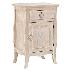 sale Bizzotto 0744327 - Amelia Wooden Bedside Table 1 Door And 1 Drawer