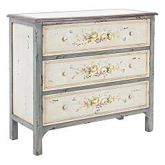 sale Bizzotto 0744088 - Genziana Wooden Dresser With 3 Drawers