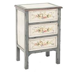 sale Bizzotto 0744086 - Genziana Wooden Bedside Table 3 Drawers