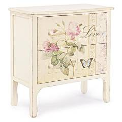 Bizzotto 0744141 - Madame Chest of drawers in wood with 2 drawers