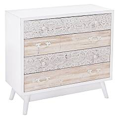 sale Bizzotto 0745363 - Glenn Wooden Dresser 4 Drawers