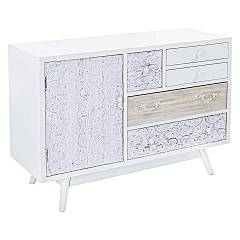 Bizzotto 0745365 Madia in wood with 1 door and 5 drawers Glenn