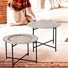 Photos 3: Bizzotto 0746053 Anil Round table in metal d. 70