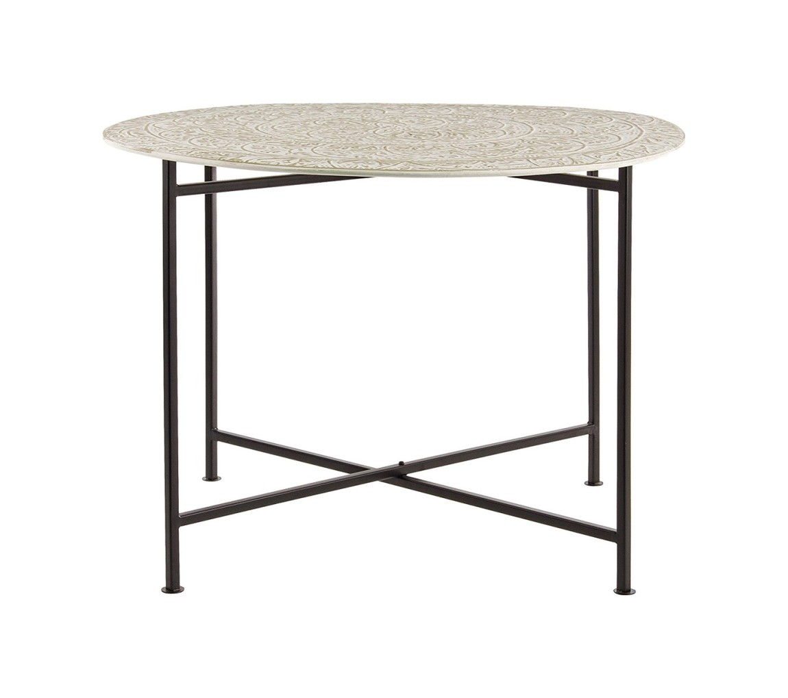 Photos 1: Bizzotto 0746053 Anil Round table in metal d. 70