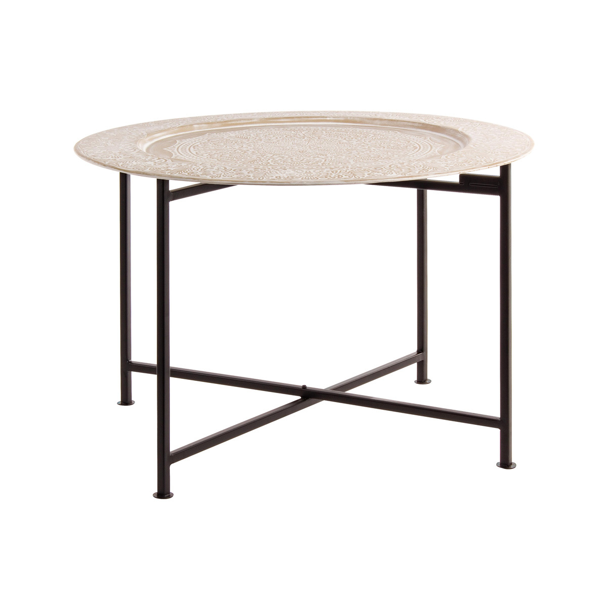 Photos 1: Bizzotto Round table in metal d. 60 0746052