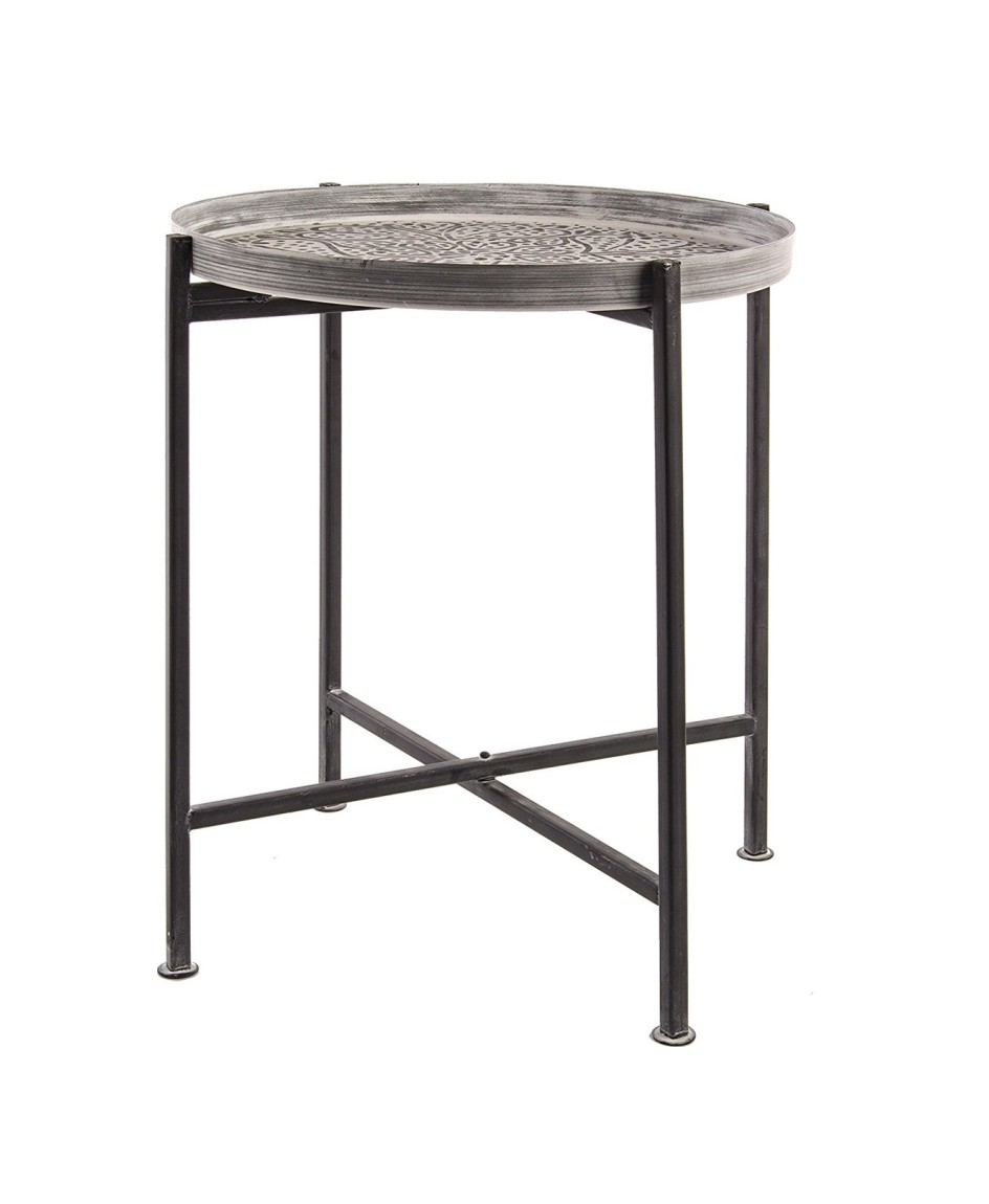 Photos 1: Bizzotto 0746050 Anil Round table in metal d. 42