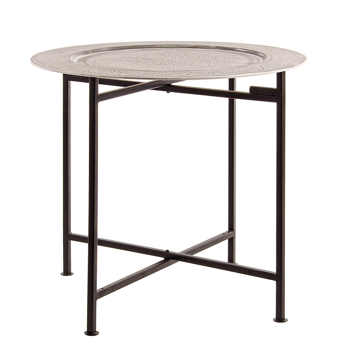 Photos 1: Bizzotto Round table in metal d. 50 0746051