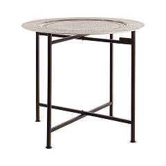 Bizzotto 0746051 Round table in metal d. 50 Anil
