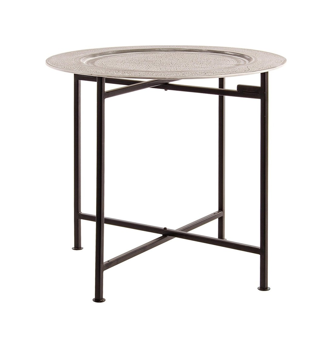 Photos 1: Bizzotto 0746051 Anil Round table in metal d. 50