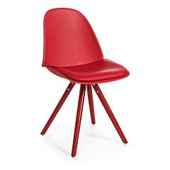Bizzotto 0730027 Chair in wood and eco-leather - red Chelsea