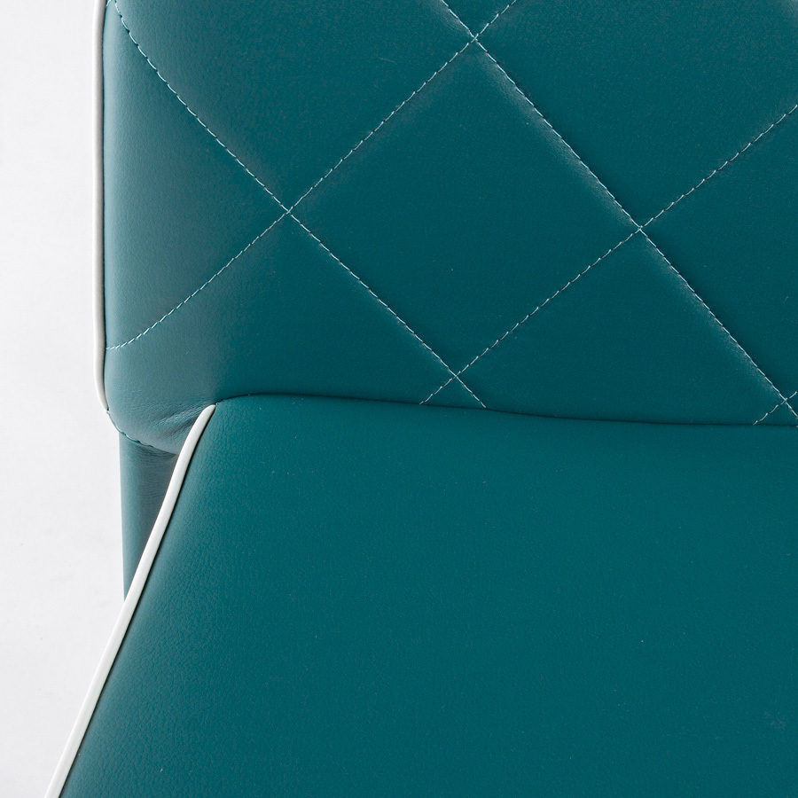 Photos 5: Bizzotto Chair covered in eco-leather - petroleum 0730785