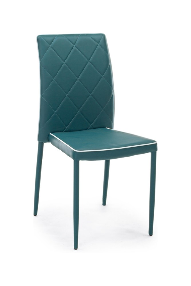 Photos 1: Bizzotto Chair covered in eco-leather - petroleum 0730785