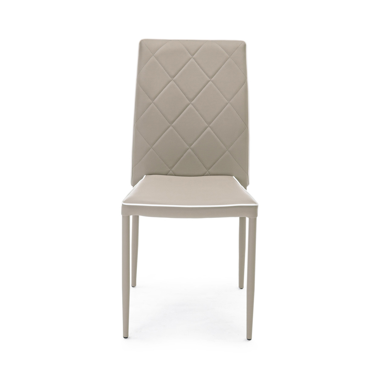 Photos 2: Bizzotto Chair covered in faux leather - tortora 0730786