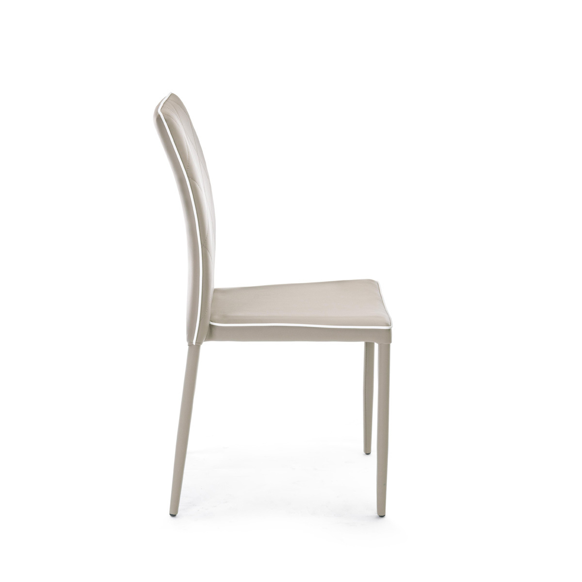 Photos 3: Bizzotto Chair covered in faux leather - tortora 0730786