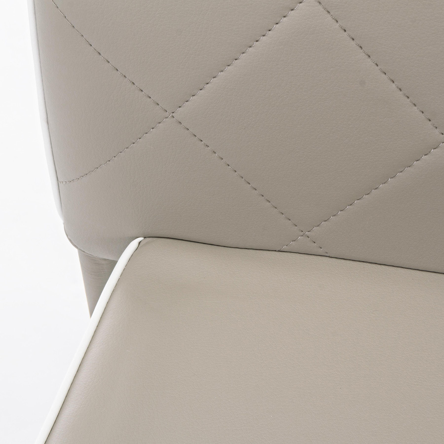 Photos 5: Bizzotto Chair covered in faux leather - tortora 0730786
