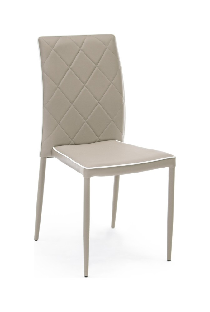 Photos 1: Bizzotto 0730786 Achille Chair covered in faux leather - tortora