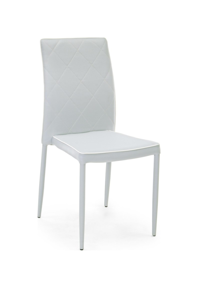 Photos 1: Bizzotto 0730787 Achille Chair covered in eco-leather - gray