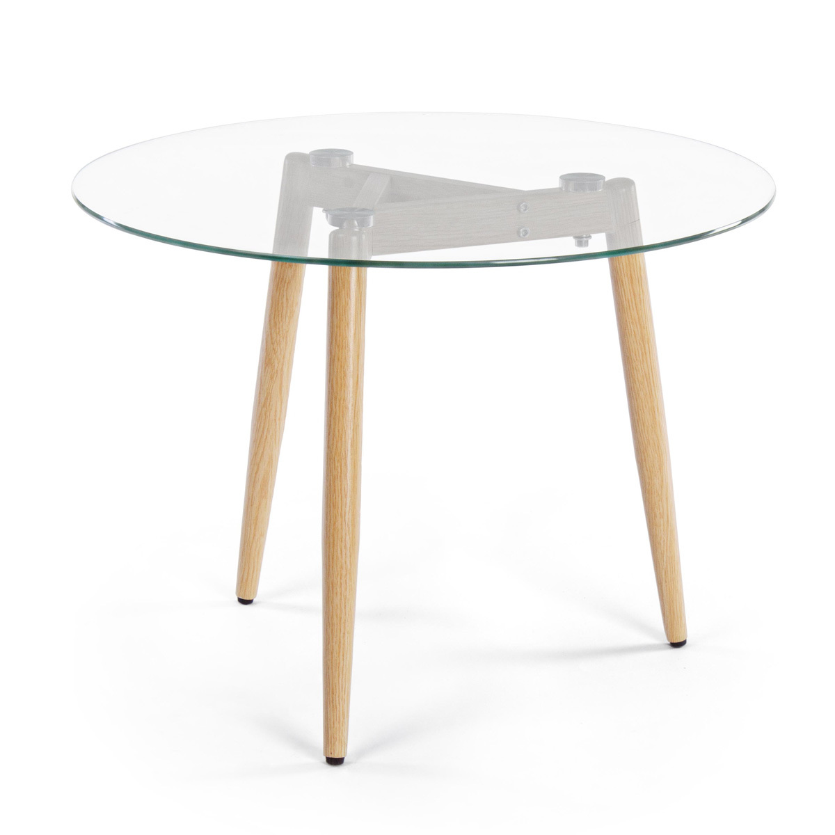 Photos 1: Bizzotto Table in metal and glass d.60 0730794