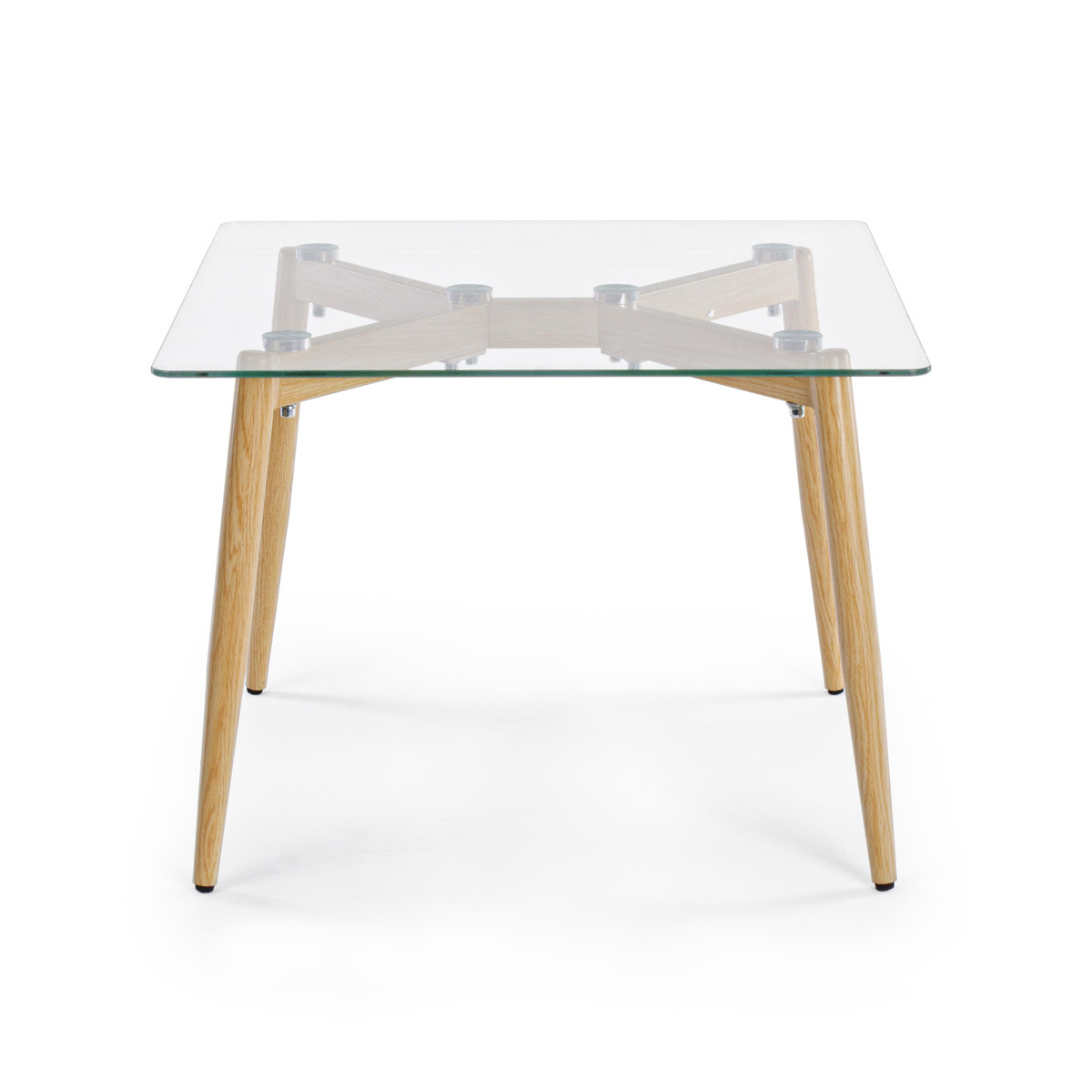 Photos 2: Bizzotto Metal and glass coffee table 60 x 60 0730795