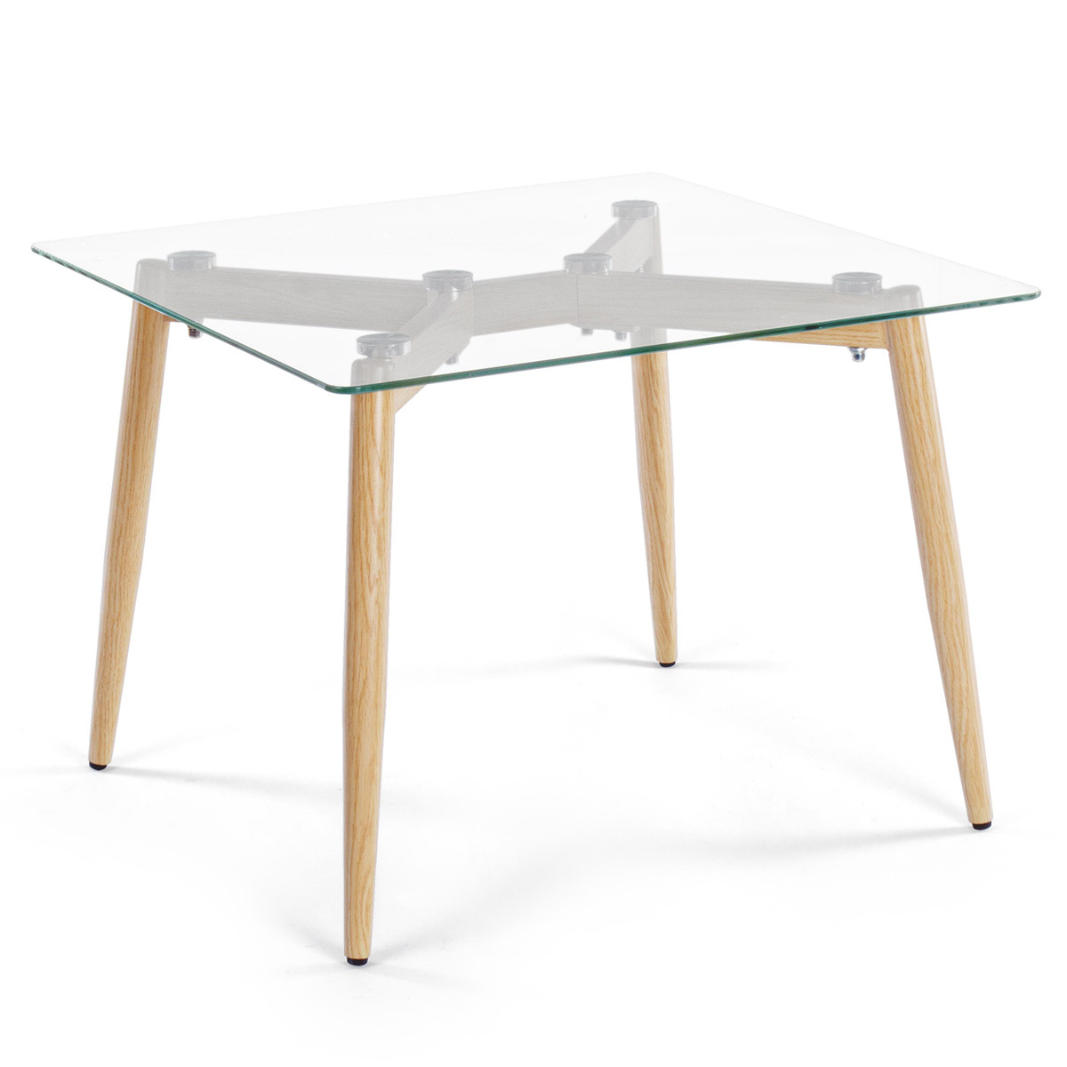 Photos 1: Bizzotto Metal and glass coffee table 60 x 60 0730795