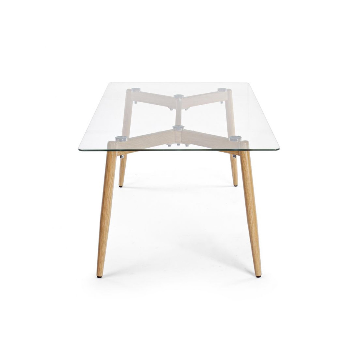 Photos 2: Bizzotto Table in metal and glass l. 110 x 60 0730796
