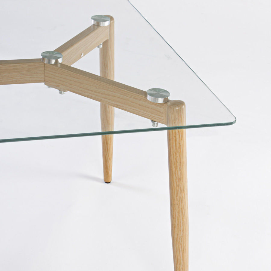 Photos 3: Bizzotto Table in metal and glass l. 110 x 60 0730796