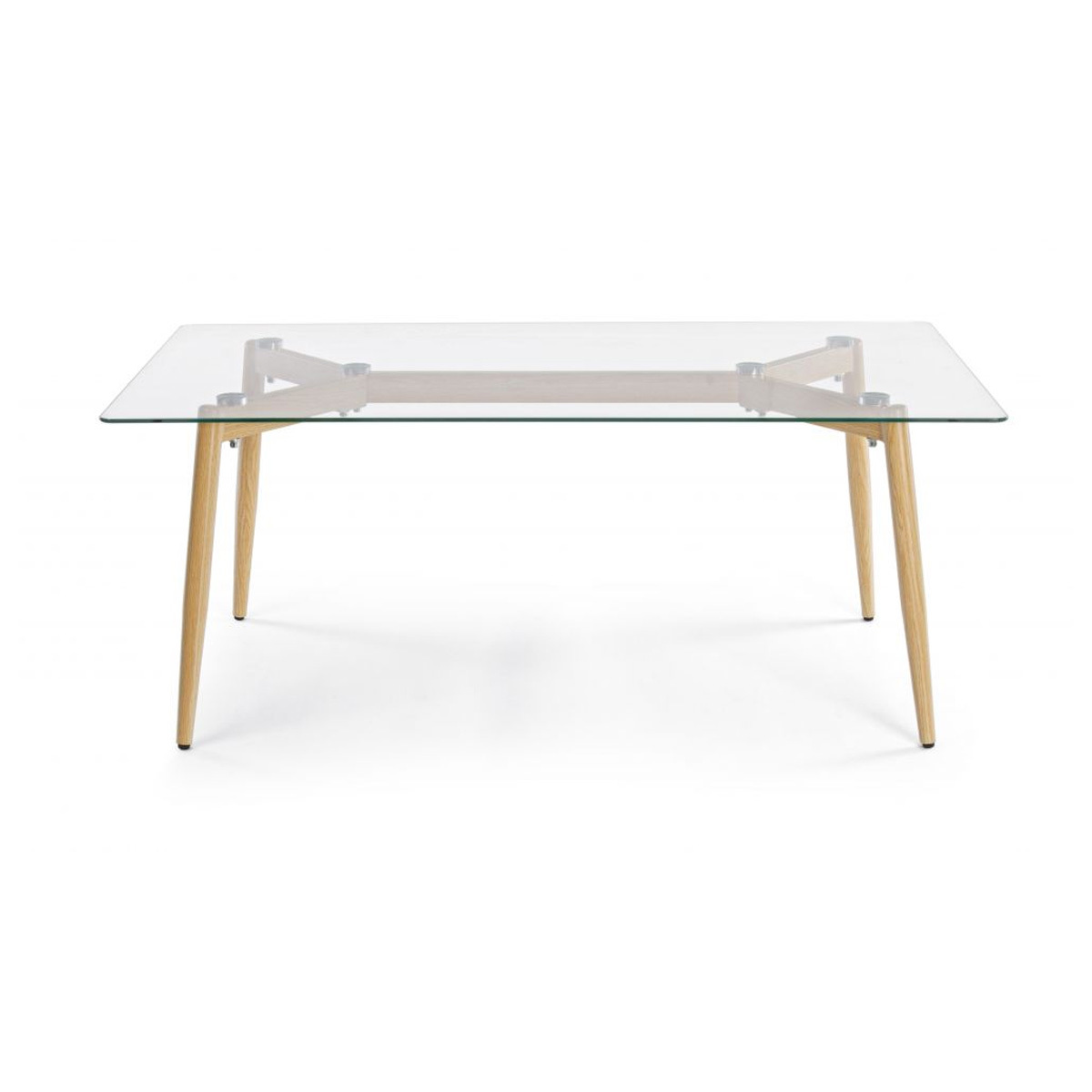Photos 1: Bizzotto Table in metal and glass l. 110 x 60 0730796