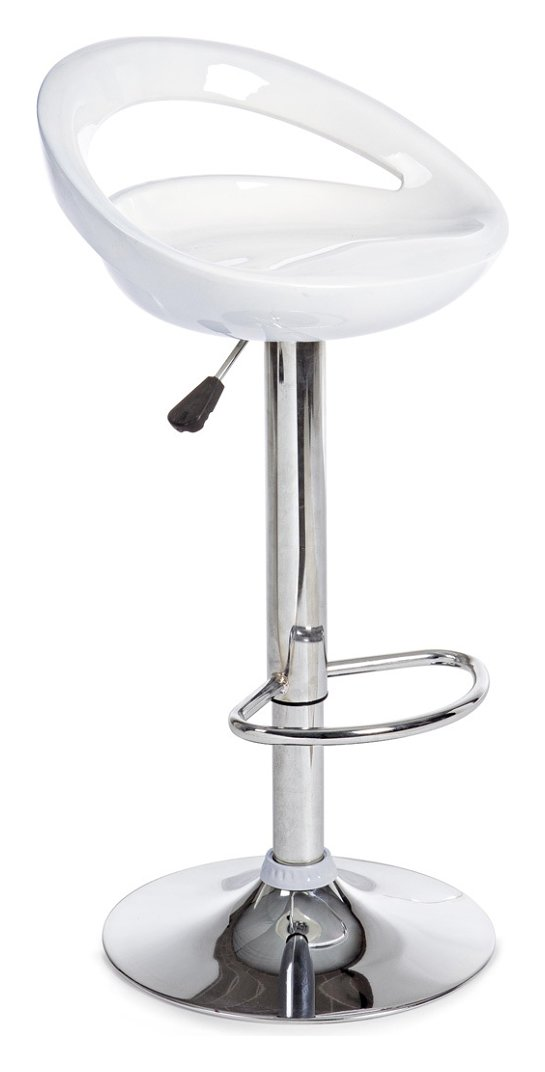 Photos 1: Bizzotto 0731328 Aster Stool in metal and abs - white