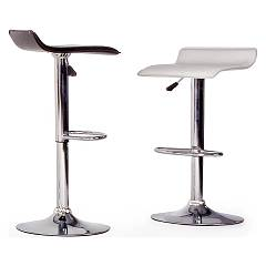 Photos 6: Bizzotto 0731340 Esse Stool in metal and pvc - white