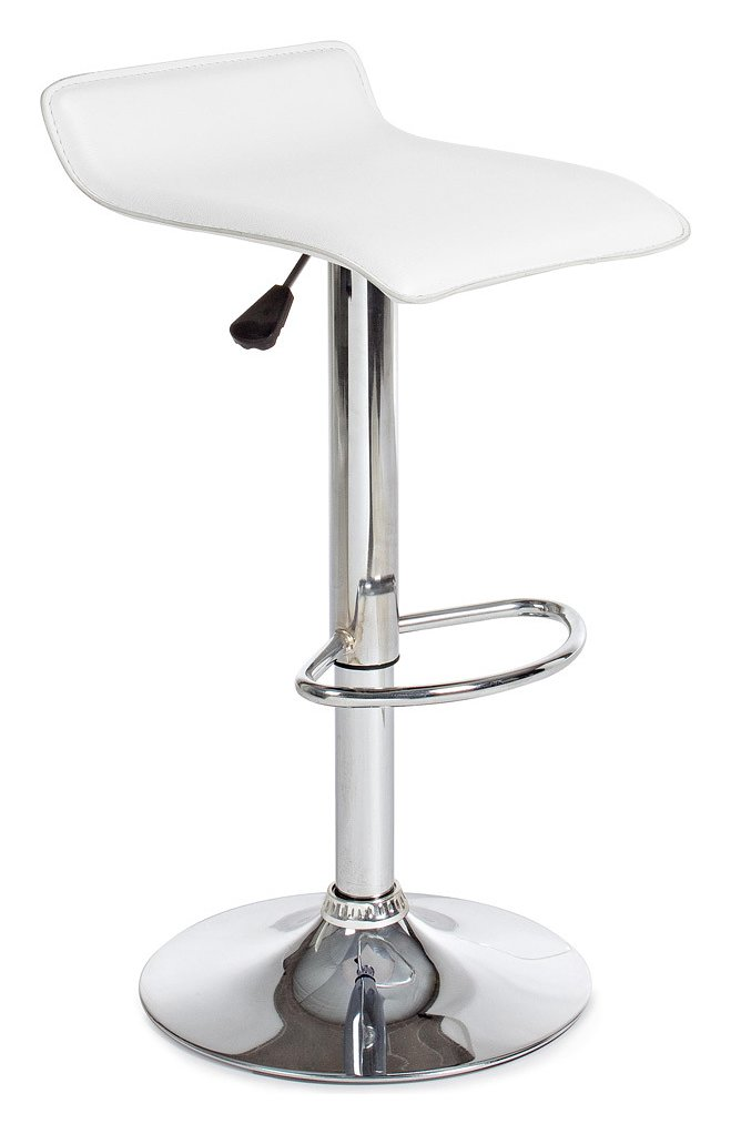 Photos 1: Bizzotto 0731340 Esse Stool in metal and pvc - white