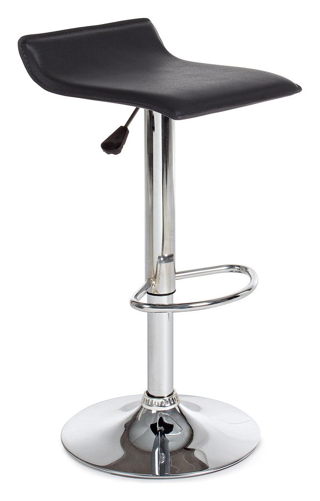 Photos 1: Bizzotto 0731341 Esse Stool in metal and pvc - black