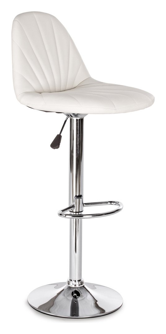 Photos 1: Bizzotto 0731361 Dytona Stool in metal and eco-leather - white
