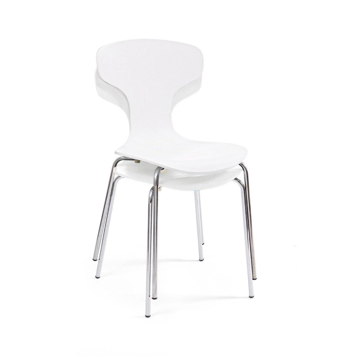 Photos 4: Bizzotto Chair in metal and wood - white 0731622