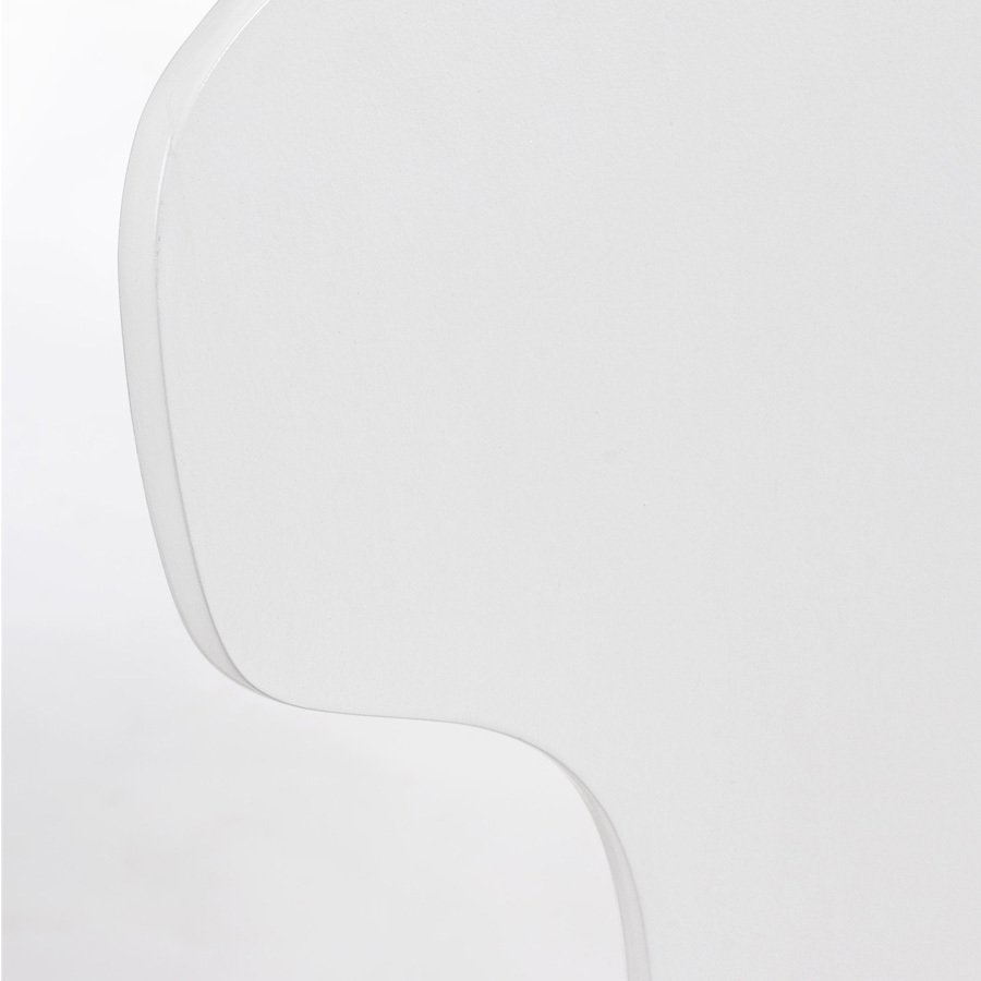 Photos 5: Bizzotto Chair in metal and wood - white 0731622