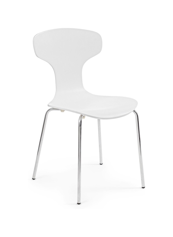 Photos 1: Bizzotto Chair in metal and wood - white 0731622