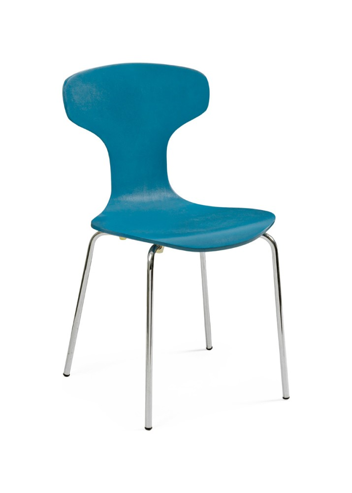 Photos 1: Bizzotto Chair in metal and wood - cobalt 0731624