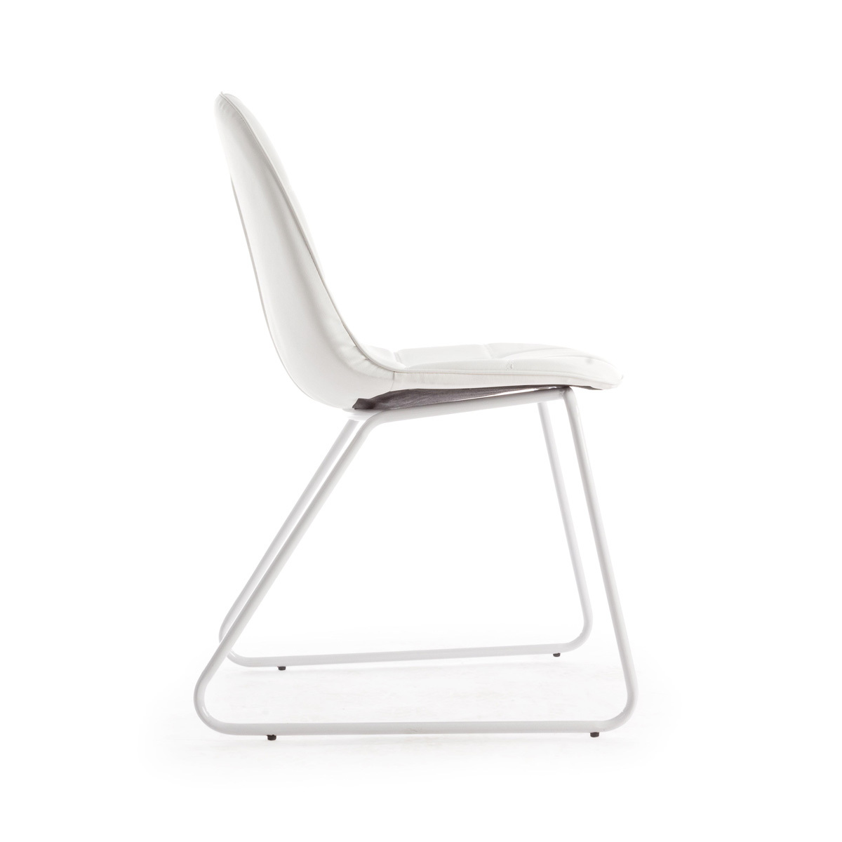 Photos 2: Bizzotto Chair in metal and eco-leather - white 0731653
