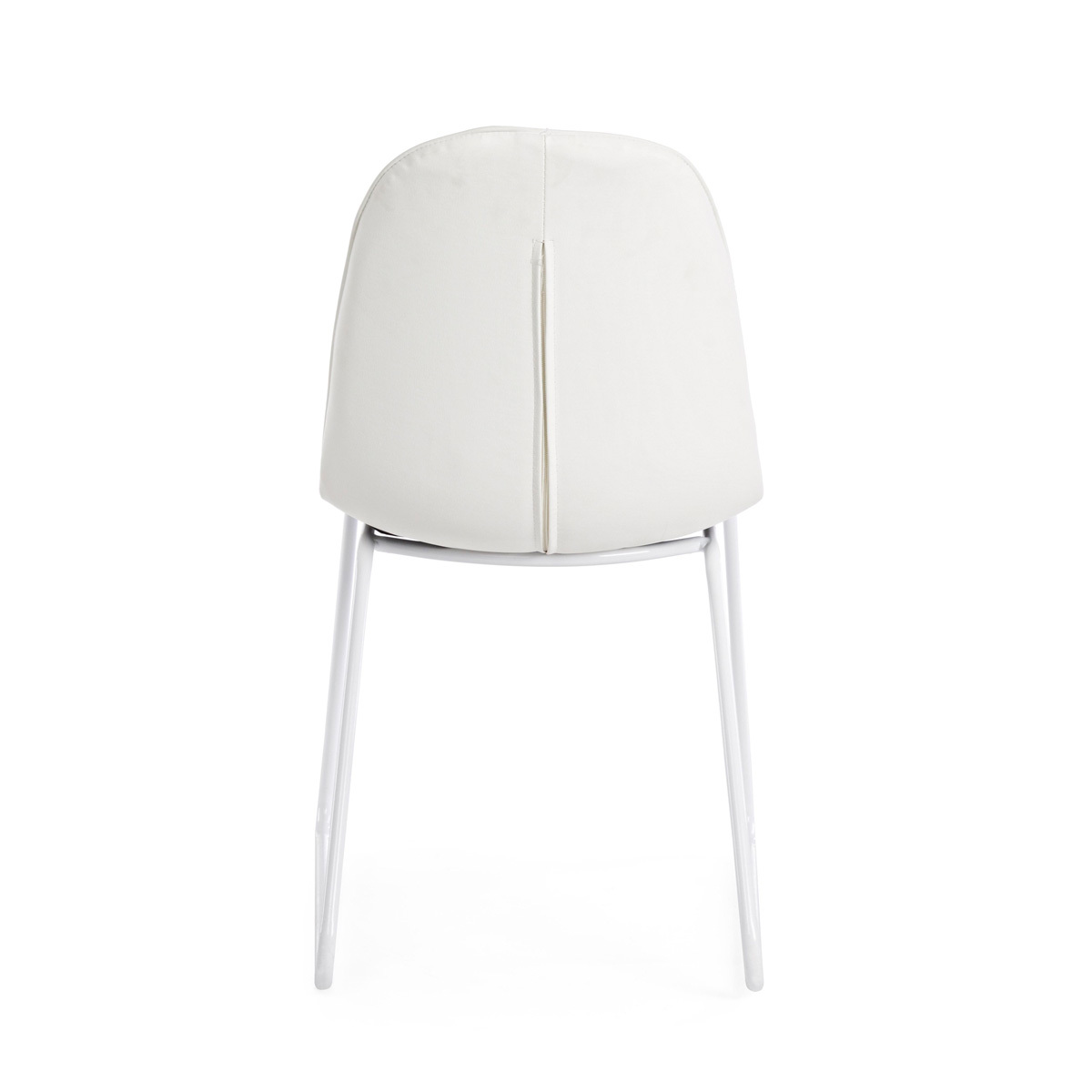 Photos 3: Bizzotto Chair in metal and eco-leather - white 0731653