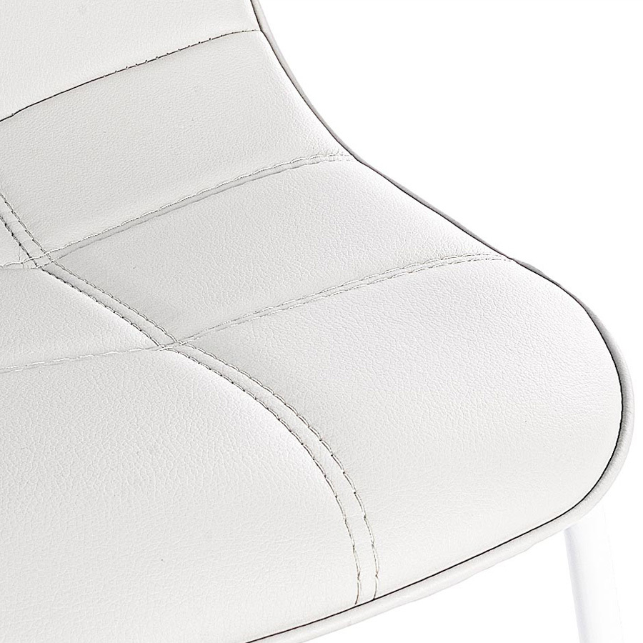 Photos 4: Bizzotto Chair in metal and eco-leather - white 0731653