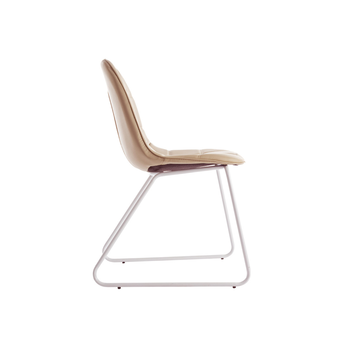 Photos 2: Bizzotto Chair in metal and eco-leather - tortora 0731656